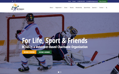 55+ BC Games Launches new website for 2016