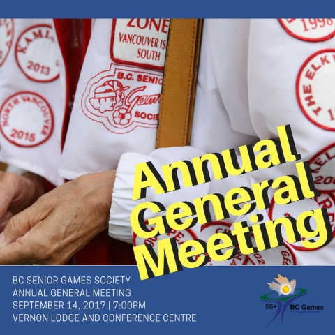 Notice of Meeting of the Members of BC Seniors Games Society
